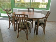 Table Ovale Carlat Avec 1 Allonge -